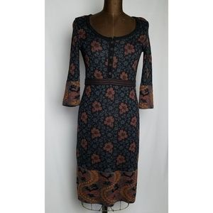 Peruvian Connection pima cotton knit dress size XS
